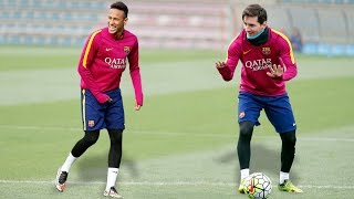 Training Skills - Leo Messi & Neymar Jr
