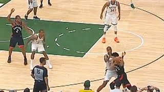 Kawhi Gets Ignored By Raptors & Bucks Great Defense Cause 2 Point Scoring In 4th Quarter Of Game 1!