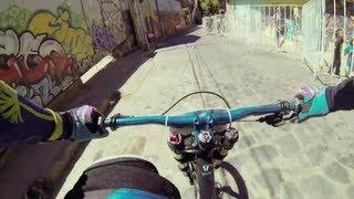 Urban MTB POV in Chile - Red Bull Valparaíso Cerro Abajo 2013