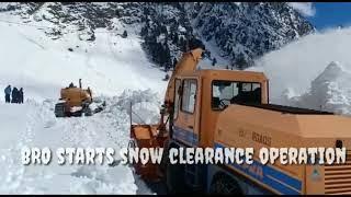 BRO Starts Snow Clearance Operation On Gaganger Sonamarg Road.