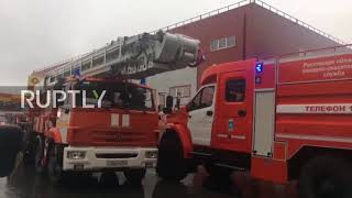 Russia: Huge fire breaks out at utility supplies market in Rostov region