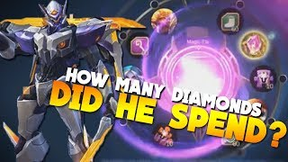 He Got The CRYSTAL! Saber Skin Codename Storm! Magic Wheel Event in Mobile Legends