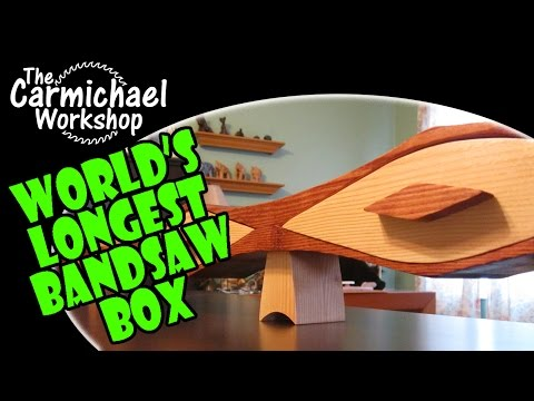 Make The World s Longest Bandsaw Box 2x4 Contest Entry