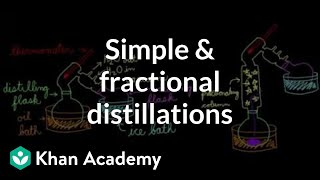 Simple and fractional distillations | Chemical processes | MCAT | Khan Academy