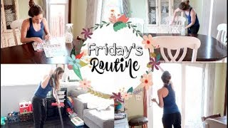 CLEAN WITH ME! FRIDAY'S CLEANING ROUTINE!