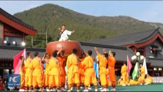 Chinese children display incredible Kung Fu moves at martial arts festival