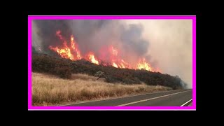 TODAY NEWS - Thousands flee as wildfire beast rising up to third largest californias