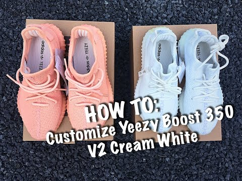 How To Customize Yeezy Boost 350 Cream White - Customs By BB