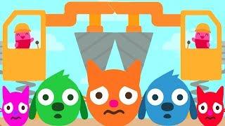 Sago Mini Trucks & Diggers Kids Games - Fun Kids Build Beautiful Color Sago Cartoon House Gameplay