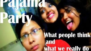 PYJAMA PARTY WITH FRIENDS | Expectation VS Reality | Smiley Sayeeba