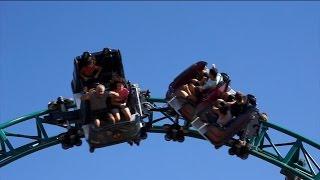 COASTER Walkthrough BUSCH GARDENS Cobras' Curse, Cheetah Hunt, Montu tour roller Christmas HD