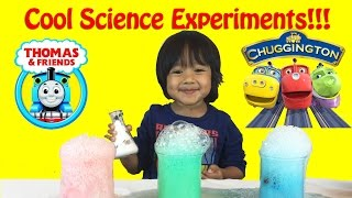 Thomas & Friends Trains Science Experiment for Kids , elephant toothpaste, baking soda and vinegar