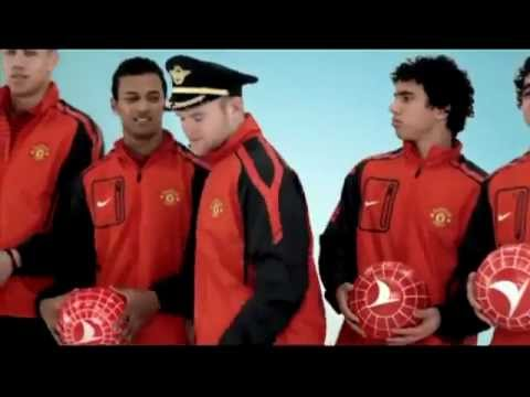 Manchester United Turkish Airlines Safety Film Fasten seat belts