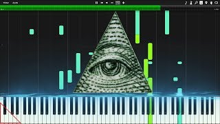 Illuminati Song (X Files Theme) Piano Synthesia Tutorial