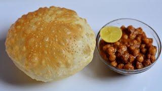Chole Bhature Recipe (using Yeast) Indian Breakfast Recipes @ Guru's Cooking