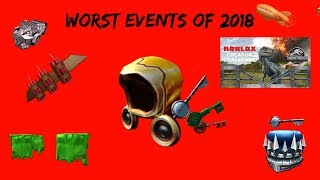Worst events of 2018 [Roblox]