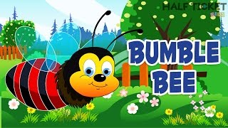Baby Bumble Bee Song | Top Nursery Rhymes For Babies With Lyrics | Cute Bee Song By Halfticket Kids