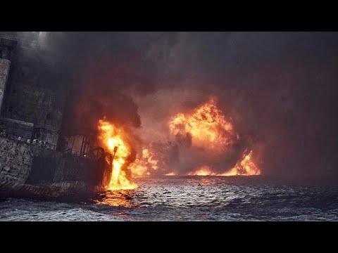'No survivors' as burning Iranian oil tanker sinks near Japan