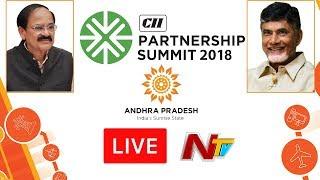 CII Partnership Summit LIVE || #SunriseAPSummit2018 || Vizag || NTV
