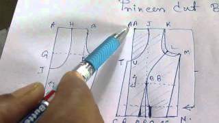 Princess cut Blouse Measurement/Drafting/Pattern/Layout/Cutting/Stitching part 2 of 10 hindi