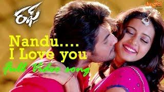 Nandu I Love you Full Video | Rough | Aadi |  Rakul Preet Singh | Manisharma