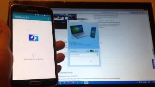 Samsung Smartphone (Samsung Galaxy S5) Screen Mirroring/Casting SideSync to PC/Laptop/Computer HD