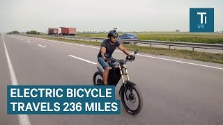 This E-Bike can travel 236 miles on a single charge