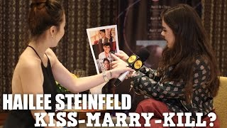 Enrique, James or Daniel? | Hailee Steinfeld plays Kiss-Marry-Kill