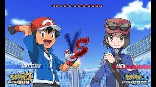 Pokemon Battle USUM: Kalos Ash Vs Calem (Pokémon Main Protagonist Face Off!)
