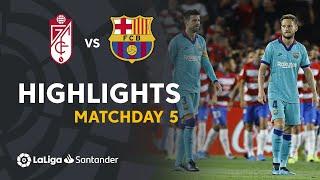 Highlights Granada CF vs FC Barcelona (2-0)