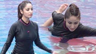 Yami Gautam HOT Workout In Swimming Pool