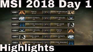 MSI 2018 Highlights Day 1 ALL GAMES | Mid Season Invitational 2018 Group Stage Highlights