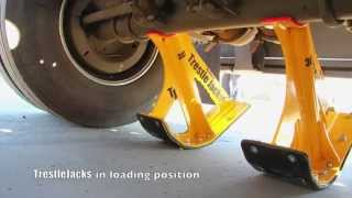 TrestleJacks   Lifting a trailer link in 7 minutes