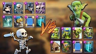 Goblins vs Skeletons Clash Royale Challenge | Epic Battle