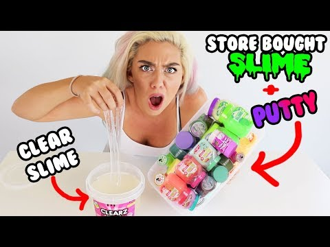 Mixing Store Bought Slime And Putty Into Clear Slime Most Satisfying Slime Video Ever