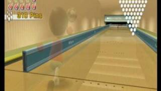 Wii Sports Bowling Wurfkraft 890 Pins Max platin