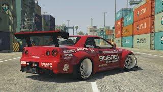 GTA 5 - NISSAN SKYLINE GTR DRIFT MONTAGE! (Port of Los Santos Gymkhana)
