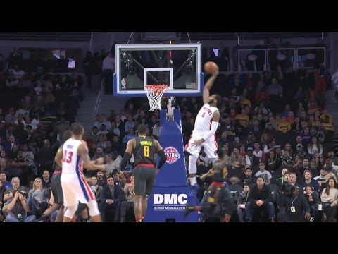 Andre Drummond Skies for One Handed Alley-Oop | 01.18.17