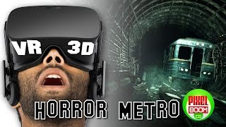 HORROR METRO UNDERGROUND - 3D VR Google Cardboard SBS 1080p