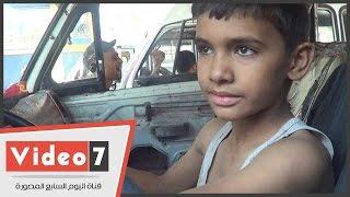 """بالفيديو. طفل يعمل سائق ميكروباص: عندى 12 سنة والزباين زمان كانت بتخاف منى"""""""