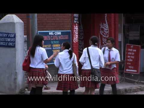 School girls in skirts, Kathmandu