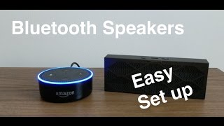 How to Pair Bluetooth speakers to Echo Dot 2nd Gen. (Filming with Pixel xl).