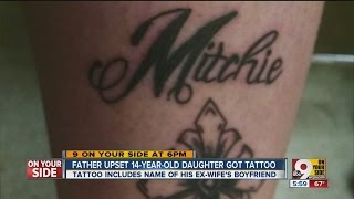 Dad angry after 14-year-old daughter gets tattoo, but that