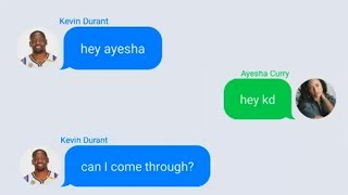 Kevin Durant Texting Ayesha Curry (Stephen Curry