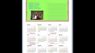 Membuat Kalender dengan Microsoft Excel. Menandai Hari Istimewa Sesuai Keinginan