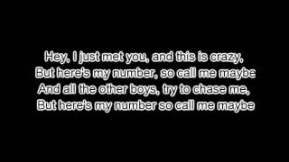 Carly Rea Jepsen - Call me Maybe (Lyrics)