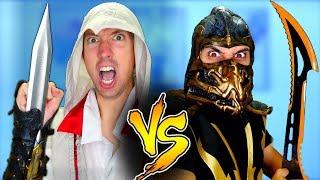 Mortal Kombat vs Assassin's Creed - Epic Weapon Battle Challenge
