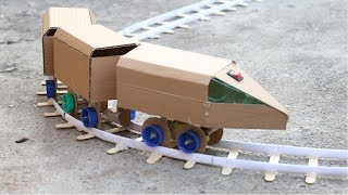 how to make electric bullet train from cardboard | DIY
