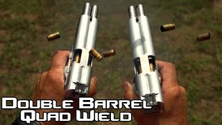 Double Barreled 1911 pistol quad wield rapid fire! 20 rounds in 1.5 seconds in SlowMo| AF2011 (4K)