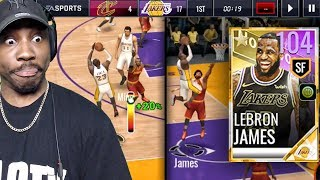 104 OVR LEBRON JAMES KING OF LA LAKERS IS BEST CARD EVER! NBA Live Mobile 18 Gameplay Ep. 60
